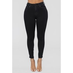 NEW FASHION NOVA BLACK MILEY HIGH RISE ANKLE JEANS